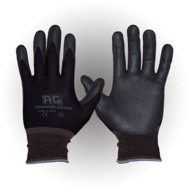 AG NITEX P-200, Nitrile Foam Coated work Gloves,12 Pairs, Breath-ability, Touchscreen Technology (BK) (S)