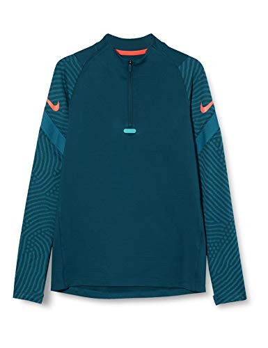 Nike Unisex-Kinder Dry Strike Dril Sweatshirt T-Shirt, (Valerian Blue/Laser Rouge Crimson), (Herstellergröße: Large)