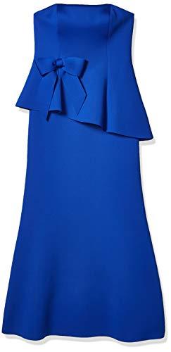 Eliza J Women's Scuba Peplum Gown with Waist Bow Dress, Cobalt, 8