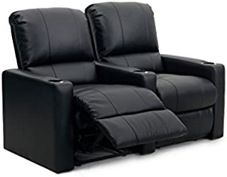 Octane Seating Octane Charger XS300 Leather Home Theater Recliner Set (Row of 2), Black