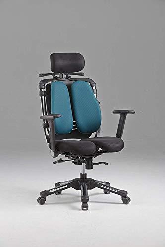 Hara Chair ハラチェア プロニーチェ�U(ネイビーブルー)≪回転肘モデル≫【ハンガー付】 高機能チェア オフィスチェア パソコンチェア 高機能チェアー ハラチェアー リクライニング ハイバック ヘッドレスト ロッキング メッシュ 腰痛 椅子 イス