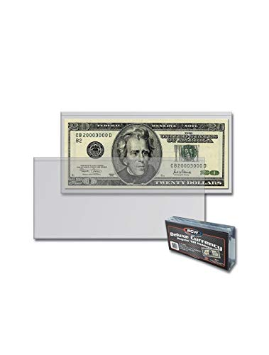 BCW Deluxe Regular Bill Currency Holders