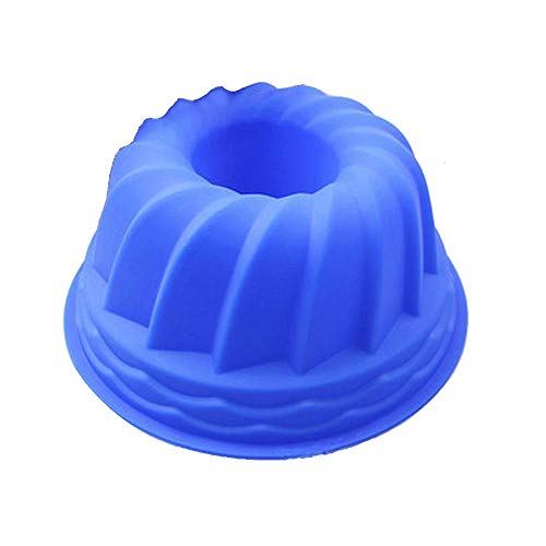 Hanseatic Consumables Moule à kouglof en bleu | 25x 9cm avec revêtement anti-adhésif | sans BPA Silicone Alimentaire | Top Qualité | très indéformable | geschmacks-& anti-odeurs