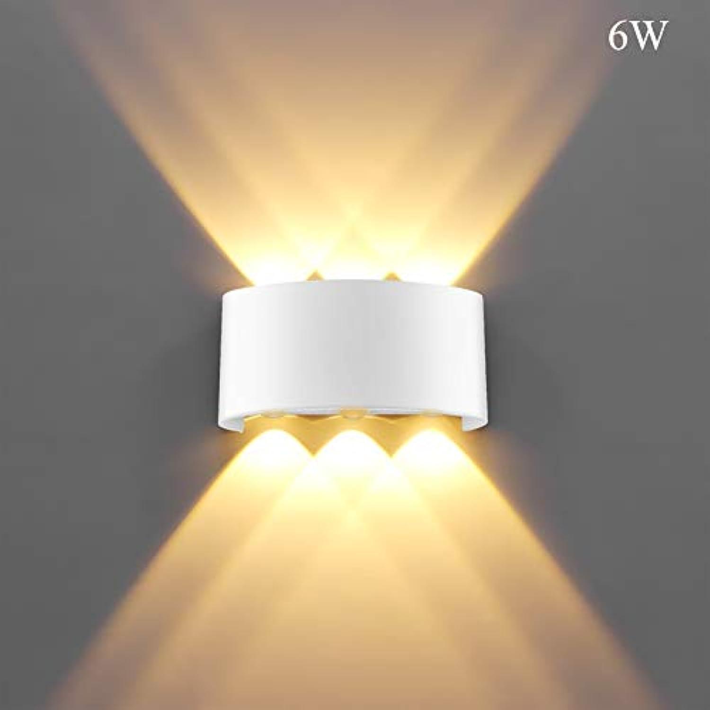 XY&XH Wandlampe, Indoor 2W 4W 6W 8W LED Wandleuchten AC100V   220V Aluminium verzieren Wandleuchte Schlafzimmer LED Wall LightIndoor und Dekoration im Freien, warmes Wei, 6W