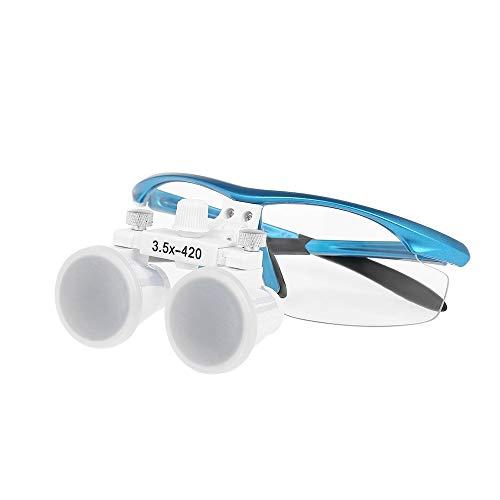 WRJY Lupas binoculares dentales 3.5X 420mm Lupa Dental Lupas de Dentista de Vidrio óptico