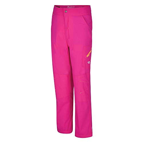 Dare 2b Kinder Reprise Lightweight Water Repellent Quick Drying Hose, Cyber Pink, 116-122