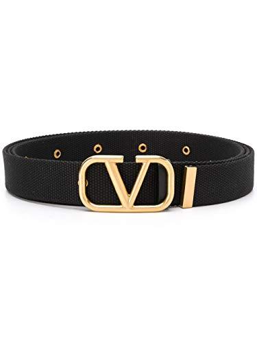 Luxury Fashion | Valentino Garavani Heren TY0T0R45TIB0NO Zwart Synthetische Vezels Riemen | Lente-zomer 20