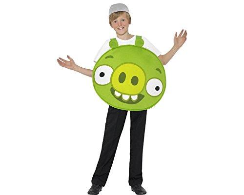 Smiffy's Maiale Verde - Angry Birds - Costume bambini - Grande - 158 Centimetri - Età 10-12