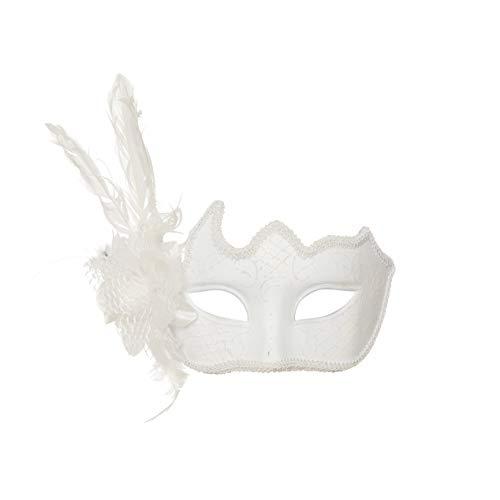 Acessorio Mascara Veneza Flor Branco com 1 Unidade, Cromus, CROMUS29001738