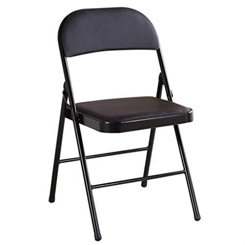 Household Draagbare bureaustoel van leer voor volwassenen, in de open lucht of op conferentie, kleine eenvoudige stoel voor de woonkamer