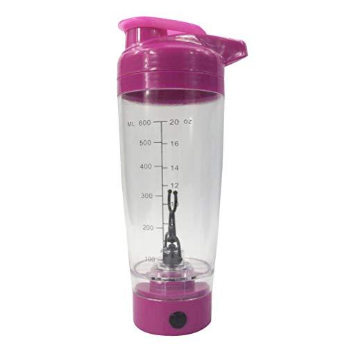 Cabilock Elektrischer Protein Shaker Flasche 600ml Proteinshaker Eiweißshaker mit Behälter Eiweißshaker Mixbecher für Getränke Smoothies Eischnee Milchshakes Cocktail (Ohne Akku)