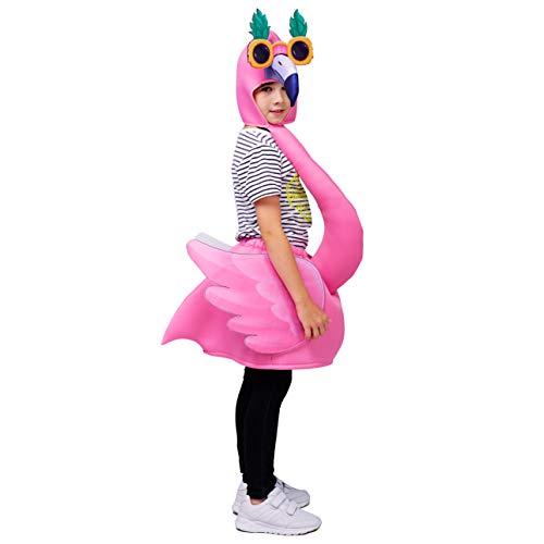 SEA HARE Flamingo Kostüm für Kinder (Einheitsgröße) (Rosa)