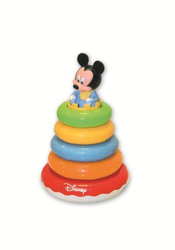 Clementoni - 14250 - Jouet Premier Age - Bébé Disney - La Tour Des Anneaux De Mickey