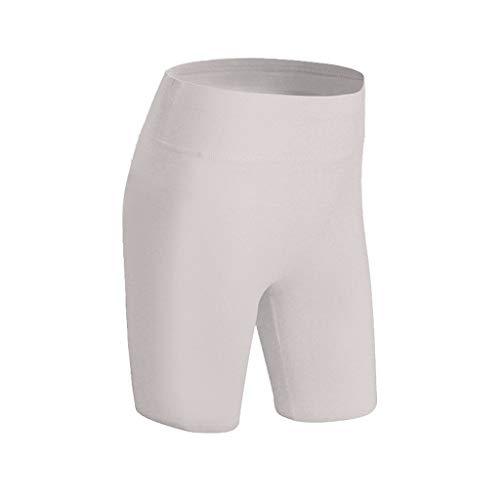 Deloito Damen Freizeit Gamaschen Hotpants Schlank Passen Schnelles Trocknen Shorts Yoga Sport Fitness Kurze Hosen (Grau,X-Large)