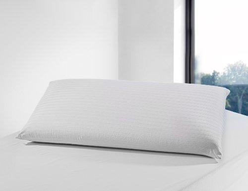 Savel - Funda de Almohada Cutí 100% algodón con Cremallera | 40 x 70 cm | Protector de Almohada de Algodon listado Transpirable. Tejido de Raso labrado Suave y Absorbente.