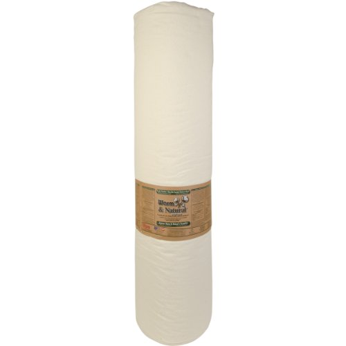 WARM COMPANY 124-Inch by 30-Yard Warm and Natural Cotton Batting by The Yard, King
