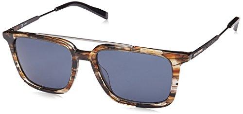 BOSS Orange BO 0305/S KU KVI Gafas de sol, Marrón (STRIPED BRWN/BL BLUE), 52 para Hombre