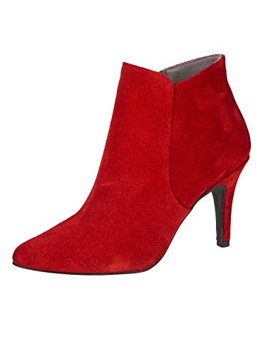 KLiNGEL Stiefelette aus hochwertigem Veloursleder Rot