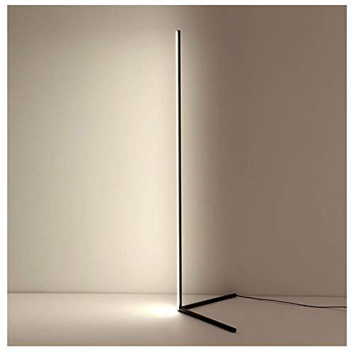 'N/A' Lámpara De Pie Simple con Control Remoto 20W LED Lámpara De Esquina De Luz Cálida Lámpara De Pie De Decoración De Sala De Estar Interior De Estilo Nórdico, Color Ajustable, Altura 140cm