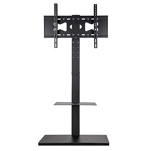 UNHO テレビスタンド 32〜60インチ対応 壁寄せテレビスタンド 首振り可能 高さ・角度調節 耐荷重30�s 地震対策 液晶テレビ テレビ台 ハイタイプ コーナー 棚板付き tv stand