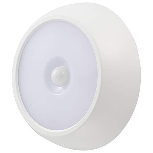 オーム電機 LEDセンサーライト 明暗人感 フットライト 足元灯 玄関灯 屋内屋外兼用 防犯灯 電池式 NIT-BLA6JM-2 06-4108 OHM
