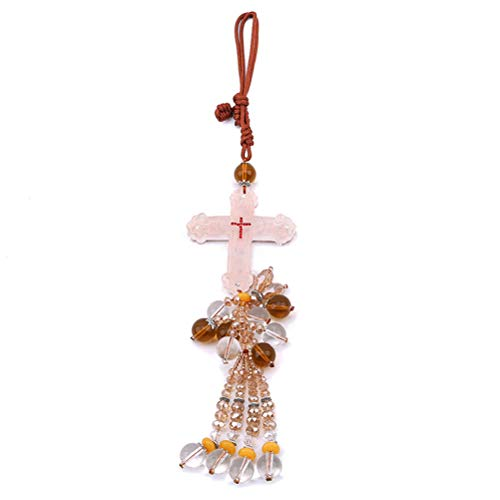 JIFNCR - Colgante de la Cruz de Jesús con símbolo de Paz para Colgar en el Coche, Accesorios de decoración para el Interior del Coche