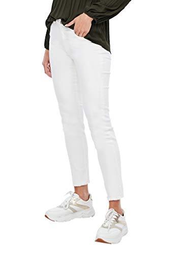 s.Oliver BLACK LABEL Damen 150.11.899.26.180.2042452 Jeans, 01Z8 White Strech Rinse, 34