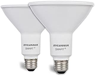 SYLVANIA SMART+ ZigBee Soft White PAR38 LED Bulb, Works with SmartThings and Amazon Echo Plus, Hub Needed for Amazon Alexa and the Google Assistant, 2 Pack