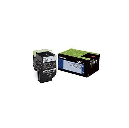 LEXMARK International 70C10K0 70C10K0 Toner (LEX-701K) 1000 Page-Yield, Black