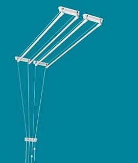 étendoir à Linge plafonnier Salle de Bain, buanderie... ETEND'MIEUX® 4 Barres (Largeur 37 cm) x 1m20 cm, capacité d'étenda...