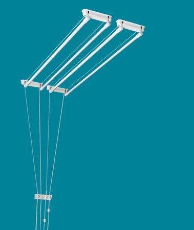 ETEND'MIEUX® - Tendedero de techo de 4 barras (anchura 37 cm) x 1 m, capacidad de...