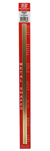 K&S-Metall 969866 Messingstab, 300mm lang, Durchm. 3,5mm 3 Stück