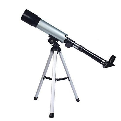 WyaengHai Astronomisches Refraktorteleskop Keplersches Fernrohr 90 ° Celestial Spiegel Löschen Image 90X für Kinder Anfänger (Color : Silver, Size : 38.5cm)