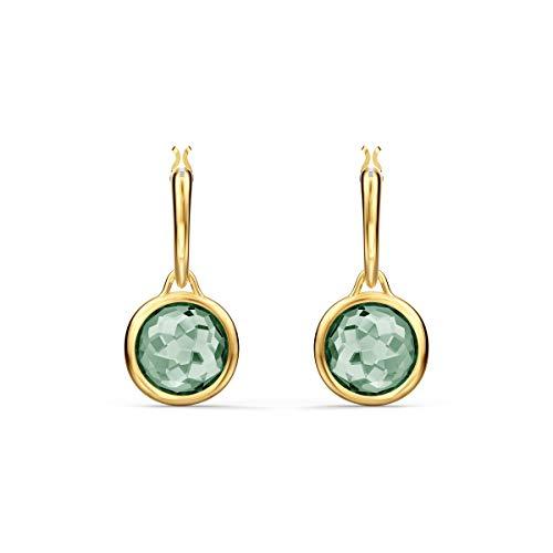 Swarovski Orecchini A Cerchio Tahlia Mini, Verde, Placcato Color Oro
