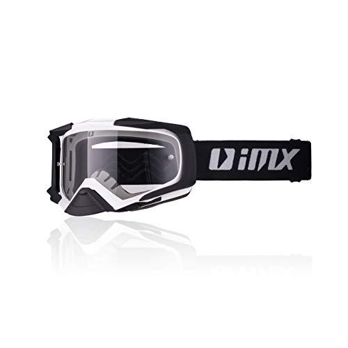 iMX Gafas DUST | Ahumado oscuro + visera transparente | Lente antivaho y antirrayas | Protección de nariz | Espuma de tres capas | Juego de dos viseras | Motocross Enduro MTB Downhill MX