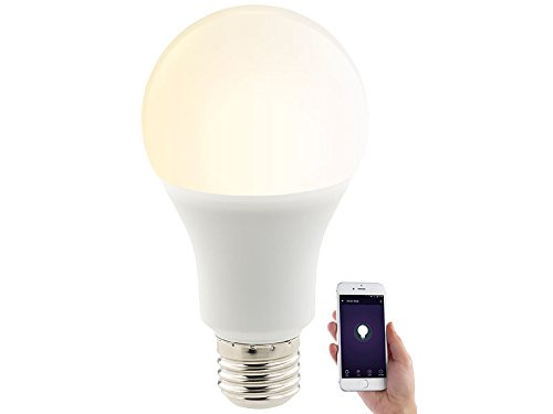 Luminea Home Control Smart Lampe: WLAN-LED-Lampe, für Alexa, Siri & Google Assistant, E27, 1.050 lm, CCT (Funk Lampen)