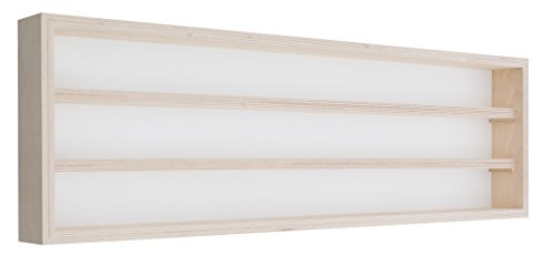 Pihami Collezionisti–Vetrina 3HE Scala H0& N Märklin Regal 80cm Faggio Naturale
