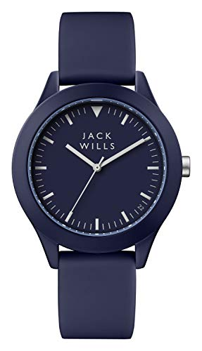 Jack Wills Herren Analog-Digital Quarz Uhr mit Leder Armband JW009BLBL