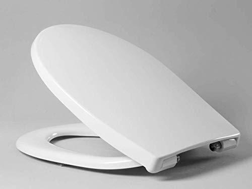 Haro WC-Sitz Passat mit Deckel, hochwertiger Toilettensitz mit SoftClose-Absenkautomatik und TakeOff-Befestigung, weiß, Art.Nr. 512131