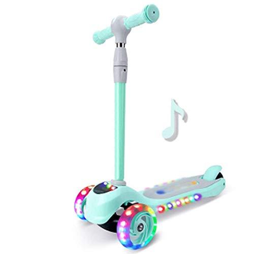 Scooter 3 ruedas scooter pie scooter monopatín delantero LED intermitente música rueda función niños juguete deporte al aire libre
