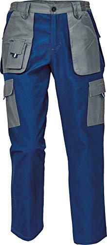 DINOZAVR Max Evolution Pantalon de Travail Multi-Poches pour Femme - Durable et Léger - Bleu/Gris 38