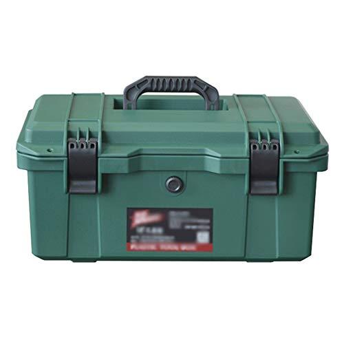 Caja de herramientas de servicio 16 Caja de herramientas portátil de plástico Caja de Herramientas pulgadas de Hogares for la herramienta o embarcaciones de almacenamiento que traba la tapa y Almacena