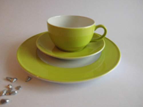 Dibbern Solid Color - Kaffeetasse m.U. 0,25 + Teller 21 cm - Limone - NEU