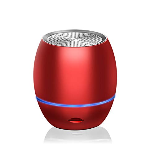 JUAN Travel Case verpackt, Wireless Mini Bluetooth-Lautsprecher mit Individuellem Bass Radiator Klein Aber laut The Next Generation von tragbaren Lautsprechern für Heim Im Freien,Rot