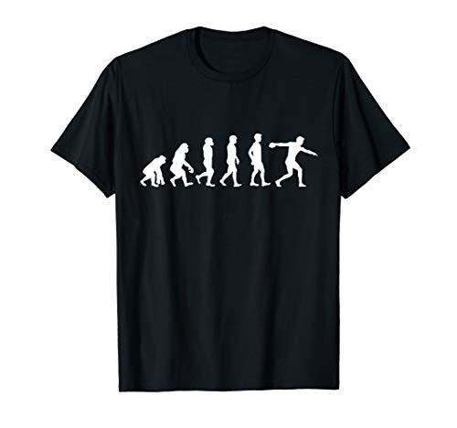 Evolution Diskuswurf Athlet TShirt Diskuswerfer Discus Throw