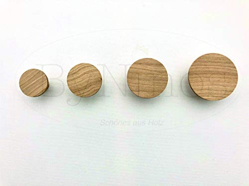 4er Set Wandhaken aus Holz - liebevoll handgefertigt