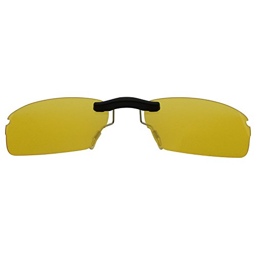Custom Polarized Clip On Sunglasses for Oakley Rhinochaser OX3111 52X19(No Frame) night vision Yellow