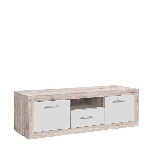 FORTE Baccio TV-Unterschrank, Holz, sandeiche/weiß, 147.80 x 41 x 49.90 cm
