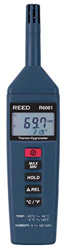 REED Instruments R6001 Thermo-Hygrometer, -4 to 140°F (-20 to 60°C), 0-100%RH,Blue