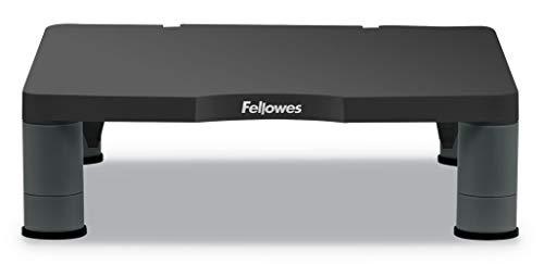 Fellowes - Soporte Elevador para Monitor estándar, para Ordenador de sobremesa y portátil, Ajustable en Altura, Color Grafito